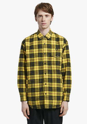 FRED PERRY Shirts Tartan Street Style Long Sleeves Cotton Shirts