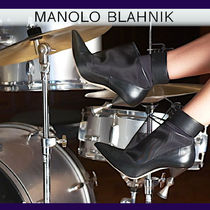 Manolo Blahnik Blended Fabrics Plain Leather Elegant Style