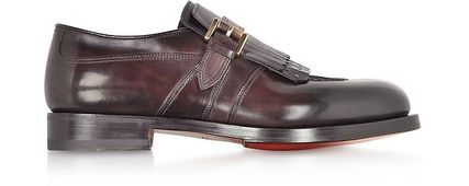 Plain Toe Plain Leather Oxfords