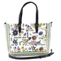Tory Burch Flower Patterns 2WAY Totes