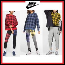 Nike Crew Neck Short Other Check Patterns Street Style