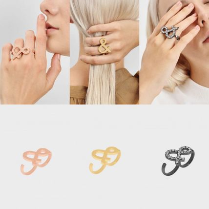 Casual Style Unisex Initial Party Style Elegant Style Rings