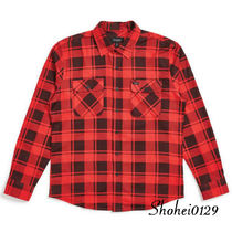 Ron Herman Tartan Unisex Street Style Long Sleeves Plain Cotton