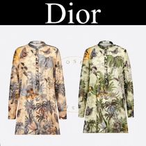 Christian Dior Tropical Patterns Street Style Long Sleeves Cotton Medium