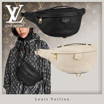Louis Vuitton BUMBAG Monogram Unisex Street Style 3WAY Bi-color Leather Hip Packs