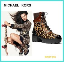 Michael Kors Leopard Patterns Platform Round Toe Rubber Sole