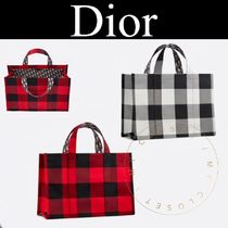 Christian Dior Other Plaid Patterns Casual Style Canvas Street Style