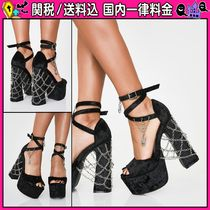 DOLLS KILL Open Toe Platform Casual Style Chain Plain Halloween