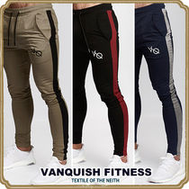 VANQUISH FITNESS Tapered Pants Street Style Plain Cotton Tapered Pants