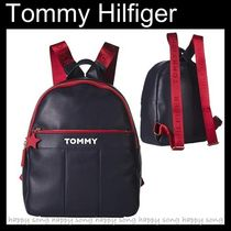Tommy Hilfiger Casual Style Street Style Plain Backpacks