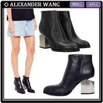 Alexander Wang Leather Block Heels Ankle & Booties Boots