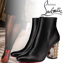 Christian Louboutin Plain Block Heels Ankle & Booties Boots