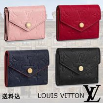Louis Vuitton ZOE Monogram Unisex Leather Folding Wallets