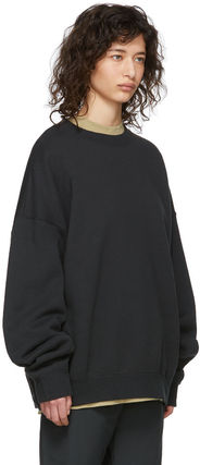FEAR OF GOD Sweatshirts Crew Neck Unisex Sweat Street Style Oversized Logo 4