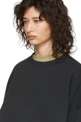 FEAR OF GOD Sweatshirts Crew Neck Unisex Sweat Street Style Oversized Logo 6