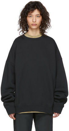 FEAR OF GOD Sweatshirts Crew Neck Unisex Sweat Street Style Oversized Logo 8