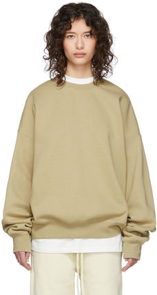 FEAR OF GOD Sweatshirts Crew Neck Unisex Sweat Street Style Oversized Logo 12