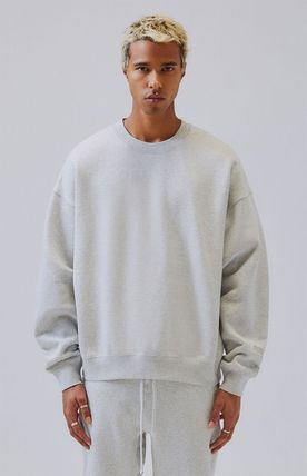 FEAR OF GOD Sweatshirts Crew Neck Unisex Sweat Street Style Oversized Logo 10