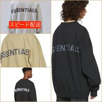 FEAR OF GOD ESSENTIALS Crew Neck Unisex Sweat Street Style Oversized Logo