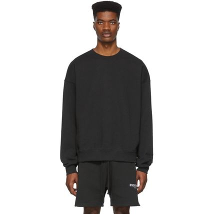 FEAR OF GOD Sweatshirts Crew Neck Unisex Sweat Street Style Oversized Logo 16