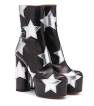 VETEMENTS Star Platform Round Toe Leather Ankle & Booties Boots