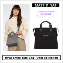 MATT&NAT Casual Style Unisex Nylon 2WAY Plain Totes