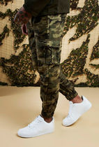 boohoo Printed Pants Camouflage Street Style Cotton Bottoms