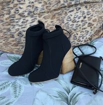 Chloe Plain Office Style Elegant Style Boots Boots