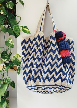 Casual Style Unisex Handmade Totes