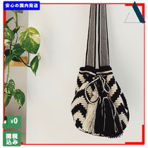 THE SMALL HOME Casual Style Unisex Handmade Shoulder Bags