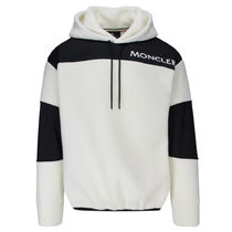 MONCLER GRENOBLE Long Sleeves Plain Cotton Hoodies