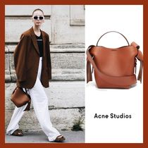 Acne Casual Style 2WAY Plain Leather Shoulder Bags