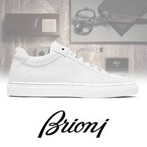 Brioni Street Style Plain Leather Sneakers
