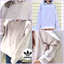 adidas FALCON Short Sweat Street Style Long Sleeves Plain Cotton Oversized