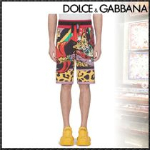 Dolce & Gabbana Printed Pants Cotton Joggers Shorts