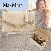 MaxMara Casual Style 2WAY Chain Other Animal Patterns Leather
