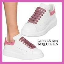 alexander mcqueen Lace-up Casual Style Leather Low-Top Sneakers