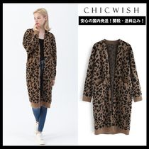 Chicwish Leopard Patterns Casual Style Long Sleeves Long Cardigans