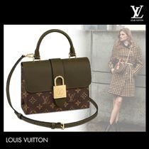 Louis Vuitton LOCKME Casual Style 3WAY Plain Leather Handbags