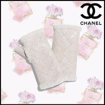 CHANEL Other Check Patterns Blended Fabrics Smartphone Use Gloves