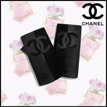 CHANEL Suede Blended Fabrics Plain Smartphone Use Gloves