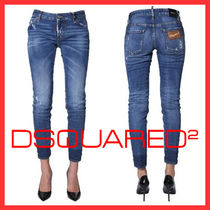 D SQUARED2 Denim Plain Cotton Skinny Jeans