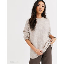& Other Stories Crew Neck Cable Knit Casual Style Wool Street Style