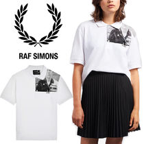 FRED PERRY Casual Style Unisex Collaboration Cotton Short Sleeves