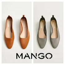 MANGO Plain Leather Flats