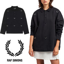 FRED PERRY Casual Style Unisex Collaboration Long Sleeves Cotton
