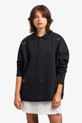 Casual Style Unisex Collaboration Long Sleeves Cotton