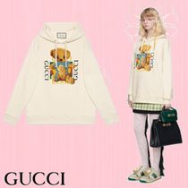 GUCCI Crew Neck Long Sleeves Other Animal Patterns Cotton