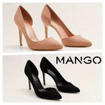 MANGO Casual Style Plain Pin Heels Party Style Elegant Style