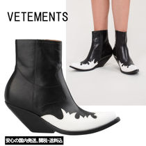 VETEMENTS Casual Style Street Style Plain Leather Boots Boots